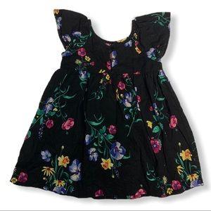 Old Navy Black Floral Dress 18-24 Months Floral